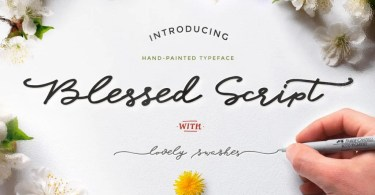 Blessed Script With Sweet Bonus [4 Fonts + Extras] | The Fonts Master