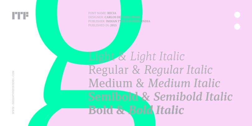 Recia [10 Fonts]   The Fonts Master
