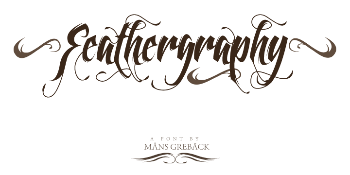 Feathergraphy [2 Fonts]   The Fonts Master