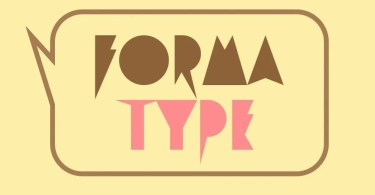Forma Type [1 Font] | The Fonts Master