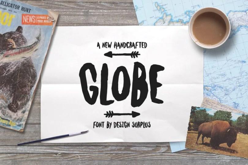 Globe [1 Font]   The Fonts Master