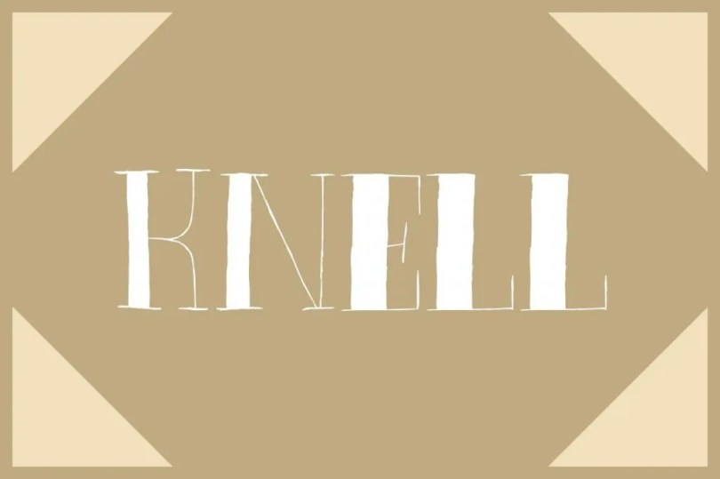 Knell [1 Font]   The Fonts Master