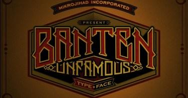 Banten Unfamous 2 [3 Fonts] | The Fonts Master