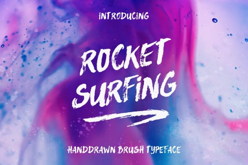 Rocket Surfing + Extras [2 Fonts + Extras]   The Fonts Master