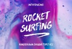 Rocket Surfing + Extras [2 Fonts + Extras] | The Fonts Master