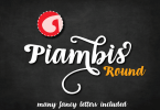 Piambis Round [1 Font] | The Fonts Master