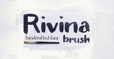 Rivina Brush + 30 Watercolor Textures | The Fonts Master