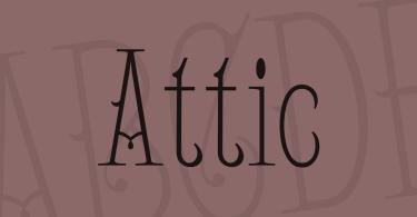 Attic [1 Font] | The Fonts Master