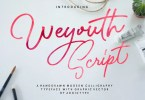 Weyouth [1 Font] | The Fonts Master