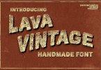 Lava Vintage (Akainu Lava) + Bonus [1 Font + Extras] | The Fonts Master