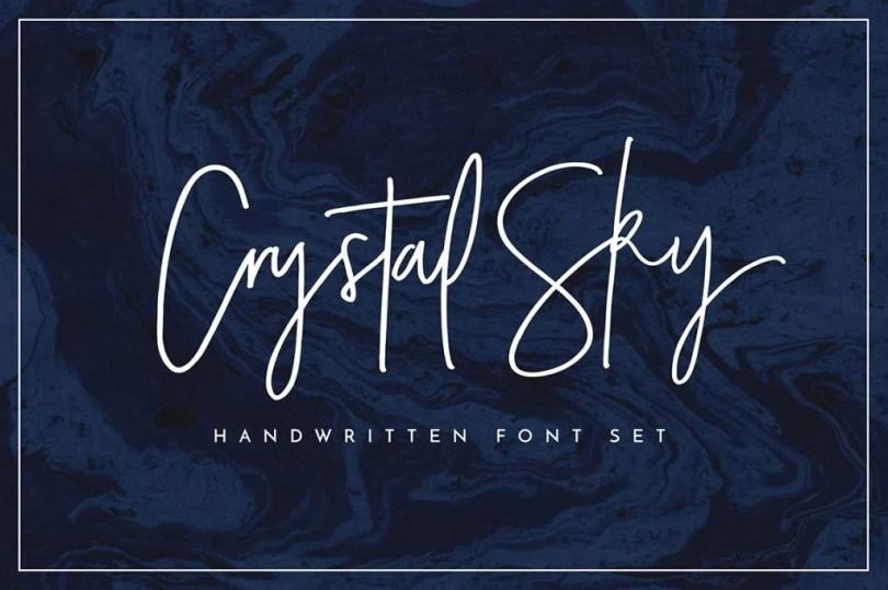 Crystal Sky Font Set [3 Fonts + Extras] | The Fonts Master