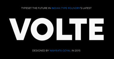 Volte [5 Fonts] | The Fonts Master