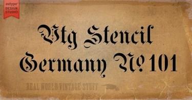 Vtg Stencil Germany No. 101 [1 Font] | The Fonts Master