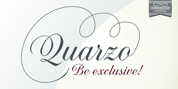 Quarzo [1 Font]   The Fonts Master