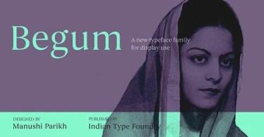Begum [5 Fonts] | The Fonts Master