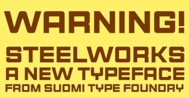 Steelworks [1 Font] | The Fonts Master