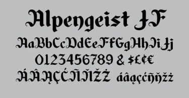 Alpengeist Jf [1 Font] | The Fonts Master
