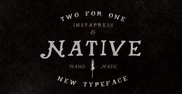 Native + Instapress [1 Font + Extra] | The Fonts Master