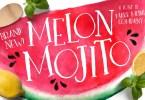 Melon Mojito [2 Fonts + Extras] | The Fonts Master