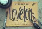 Loveton [1 Font + Extras] | The Fonts Master