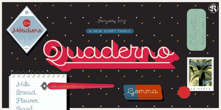 Quaderno [16 Fonts] | The Fonts Master