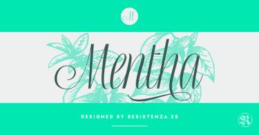 Mentha [2 Fonts] | The Fonts Master