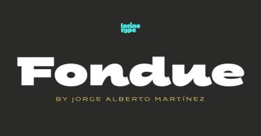 Fondue [6 Fonts]   The Fonts Master