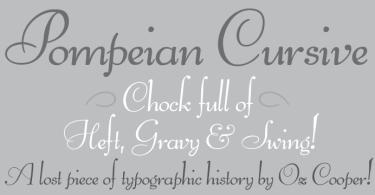 Pompeian Cursive [1 Font] | The Fonts Master