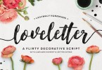 Loveletter Script [1 Font + Extras] | The Fonts Master
