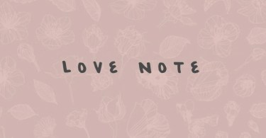 Love Note [1 Font]   The Fonts Master