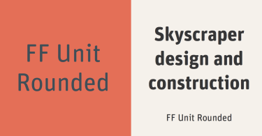 FF Unit Rounded [12 Fonts]