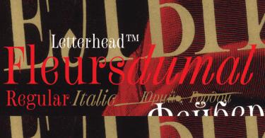Fleursdumal [2 Fonts] - The Fonts Master
