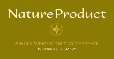 Nature Product [1 Font] | The Fonts Master