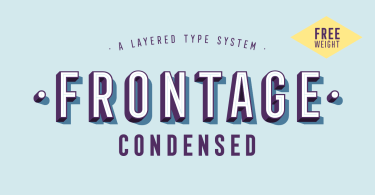 Frontage Condensed [10 Fonts] | The Fonts Master