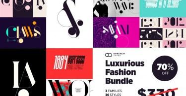 Luxurious Fashion Bundle [36 Fonts]