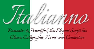 Italianno [1 Font]   The Fonts Master