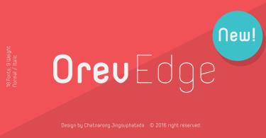 Orev Edge [18 Fonts] | The Fonts Master