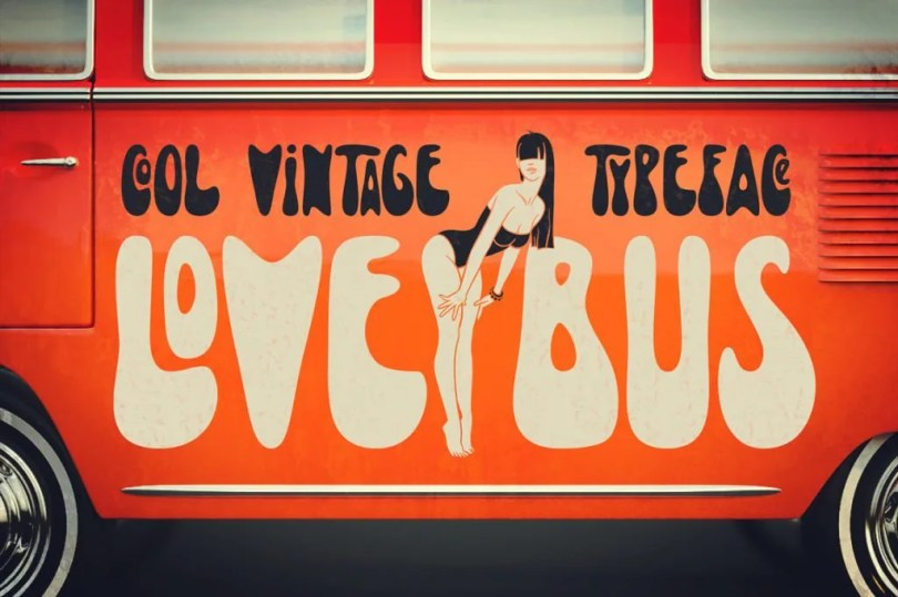 Lovebus [1 Font + Extras]   The Fonts Master