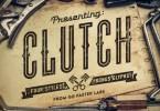 Clutch + Bonus [4 Fonts + Extras] | The Fonts Master