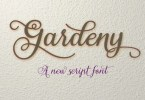 Gardeny [1 Font] | The Fonts Master