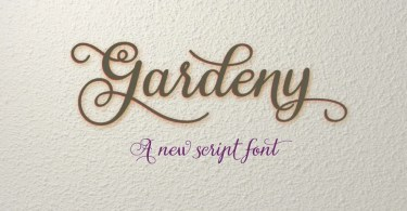 Gardeny [1 Font]   The Fonts Master