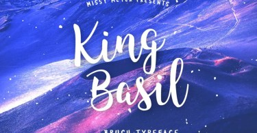 King Basil [1 Font] | The Fonts Master