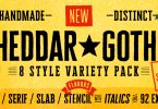 Cheddar Gothic [8 Fonts] | The Fonts Master