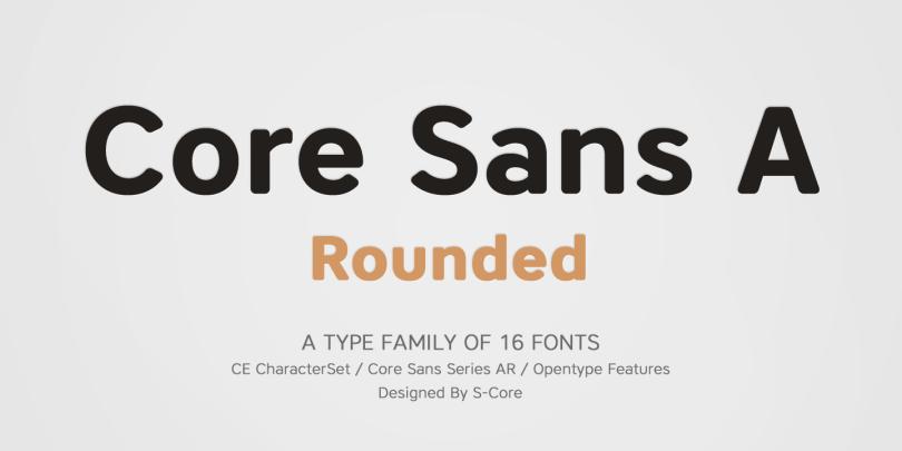 Core Sans Ar Super Family [16 Fonts]   The Fonts Master