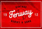Fenway + Bonus [3 Fonts &Amp; Extras] | The Fonts Master