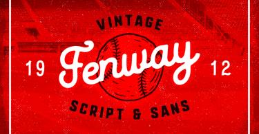Fenway + Bonus [3 Fonts & Extras]