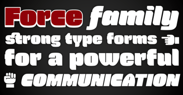 Force [4 Fonts] | The Fonts Master