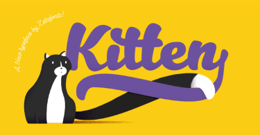 Kitten [11 Fonts] | The Fonts Master