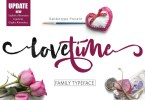 Lovetime Script [3 Fonts] | The Fonts Master