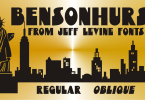 Bensonhurst Jnl [2 Fonts] | The Fonts Master